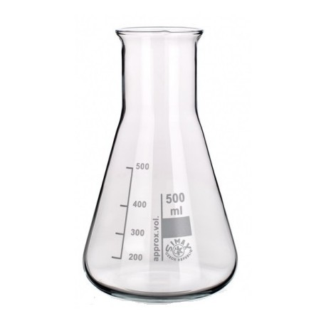 Matraz Erlenmeyer vidrio 100 ml ( caja 10 ud )
