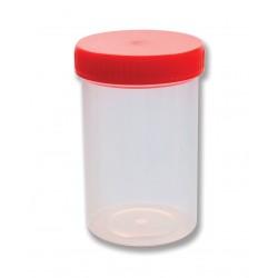 Contenedores de muestras de 180 ml estériles con tapa a rosca